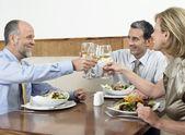 Businesspeople Toasting Drinks — Stock Photo