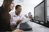 Multiethnic Colleagues Working On Computer Together — Stockfoto