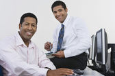 Business Colleagues At Desk — Stock Photo