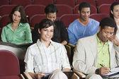 Sitting In Auditorium — Stock Photo