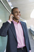 Businessman Using Hands Free Device — Stock Photo