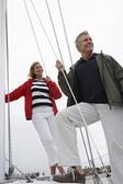 Couple Sailing Together — Stock Photo