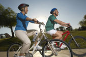 Friends Riding Bicycles — Stock Photo