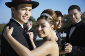 Happy couple dancing at Quinceanera — Stock Photo