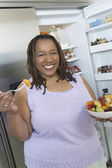 Woman With A Bowl Of Salad — Stock Photo
