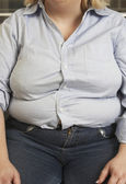 Obese Woman Sitting — Stock Photo