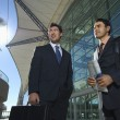 Businessmen In Front Of Office Building — Stock Photo