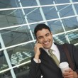 Businessman Using Mobile Phone — Foto Stock