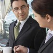 Businesspeople Discussing Outside Office — Stock Photo #21953553