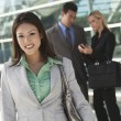 Beautiful Businesswoman Outside Office — Stock Photo