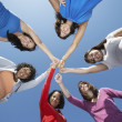 Young Women Standing In Circle — Stock Photo