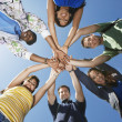 College Students Forming Huddle — Stock Photo