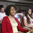 Multiethnic Students Attending Lecture - Stockfoto