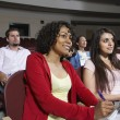 Multiethnic Students Attending Lecture -  