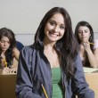 Happy Female Student In Classroom — Foto de Stock