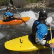 Kayakers On River - Stock Photo