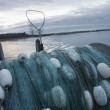 Fishing Net On Back Of Fishing Boat — Stock Photo #21956193