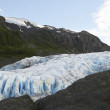 USA Alaska Glacier Between Cliffs - Stock Photo