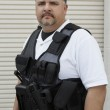 Security Guard In Bulletproof Vest — Stock Photo #21957343