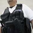 Security Guard In Bulletproof Vest — Stock Photo #21957349
