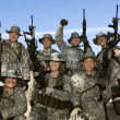 Group Portrait Of Soldiers On Field — Stock Photo #21957609