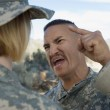 Military Officer Shouting At Female Soldier — Stock Photo #21957787