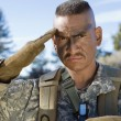 Stock Photo: Portrait Of Soldier Saluting