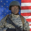 Portrait Of US Army Soldier — Stok fotoğraf