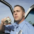 Paramedic Using CB Radio — Stock Photo #21958701