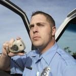 Paramedic Using CB Radio — Stock Photo