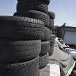 Tires In Junkyard — Stock Photo