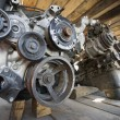 Car Engines In Junkyard — Stock Photo #21959943