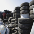 Stock Photo: Tires In Junkyard