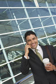 Businessman Using Mobile Phone — Stock Photo