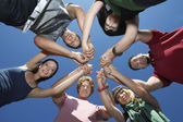 Young Holding Hands In Circle — Stock Photo