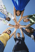 College Students Forming Huddle — Foto Stock