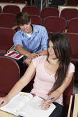 Student With Hand On Girl's Shoulder — Foto de Stock