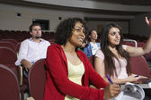 Multiethnic Students Attending Lecture — Stock Photo