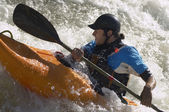 Whitewater Kayaker — Stock Photo