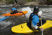 Kayakers On River — Stock Photo