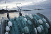 Fishing Net On Back Of Fishing Boat — Stock Photo