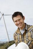 Engineer At Wind Farm — Stock Photo
