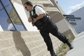 Security Guard With Gun Patrolling — Stock Photo