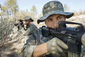 Two Soldiers With Weapons — Stock Photo