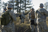 Soldiers During Training In Forest — Stock Photo