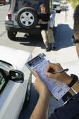 Police Officer Writing Ticket — Stok fotoğraf