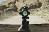 View Of Target Through Rifle Scope — Stock Photo