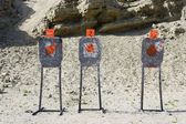 Three Targets At Firing Range — Stock Photo