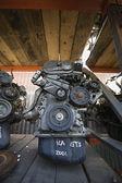 Motori di auto in discarica — Foto Stock