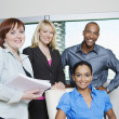 Multi Ethnic Business Smiling Together — Stock Photo #21965597